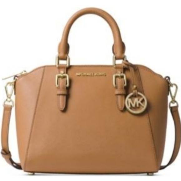 c6993a0c8f81 Michael kors Ciara small saffiano leather satchel